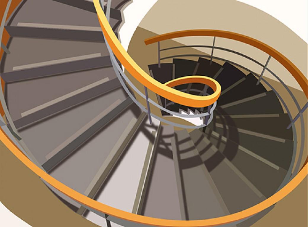 faire le choix d 39 un escalier circulaire. Black Bedroom Furniture Sets. Home Design Ideas