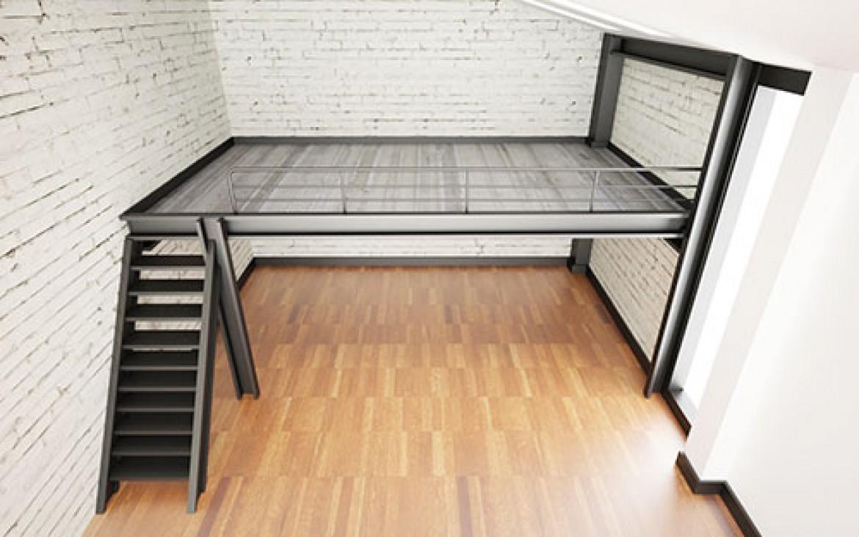 faire le choix d 39 un escalier pour mezzanine. Black Bedroom Furniture Sets. Home Design Ideas