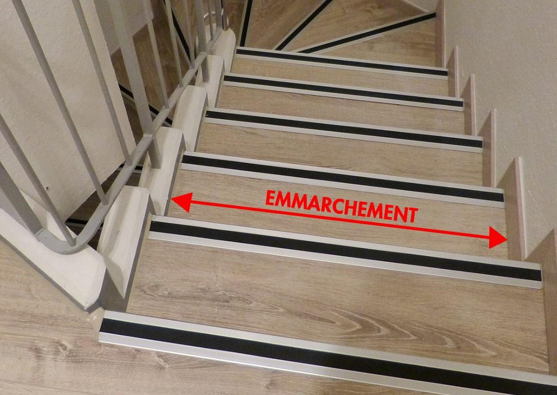 Escalier Bois Entre Deux Murs fabrication escalier : l'emmarchement