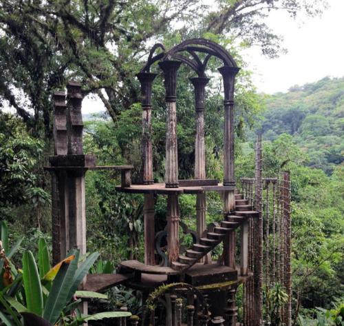 L\'escalier du jardin Las Pozas au Mexique
